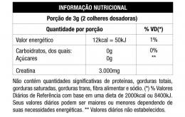 CREATINA 150G - NUTRATA - TABELA NUTRICIONAL